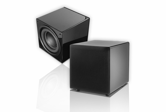 "PS88 Black Lacquer Piano Finish Subwoofer Dual 8"" Woofer"