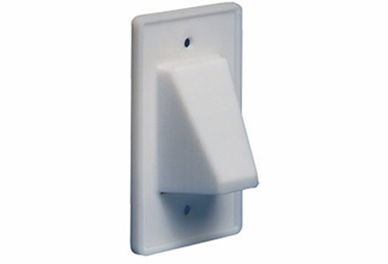Reversible Single Gang Pass Thru Cable Wall Plates