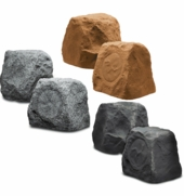"RX550 5.25"" Outdoor Rock Speaker 100W (Pair Brown Granite Slate Color)"