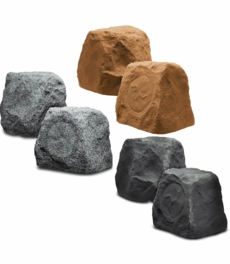 "RX550 5.25"" Outdoor Rock Speaker Pair 100W (Sandstone Canyon Brown, Slate Dark Grey, or Granite Light Grey)"