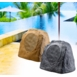 "RX805 200W High Performance 8"" Rock Speaker 2-Way Pair (Sandstone Canyon Brown or Granite Grey"