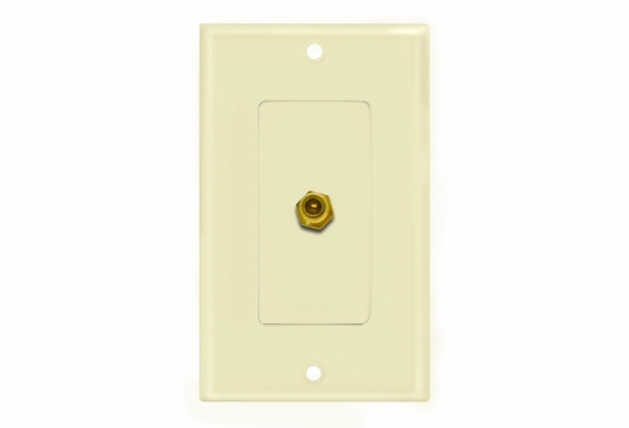 "Single ""F"" Connector Wallplate"