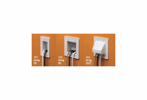 Single Gang Cable Entrance Hood without Front Plate