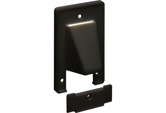 Single Reversible Cable Entrance Plates with Removeable Front Plate
