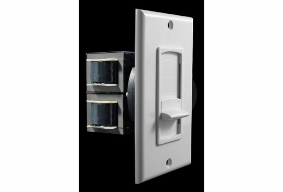Slider Style Heavy Duty 60 Watts peak Impedance Matching Volume Control; Kit includes White, Bone and Ivory color matched Decora® Insert, Outer Plate and Slider