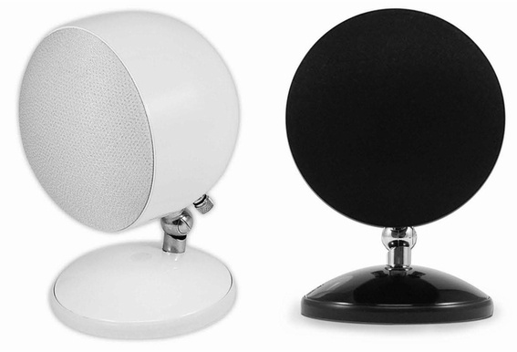 SPHERE-1 Round Shape Ball Speaker Black Pair