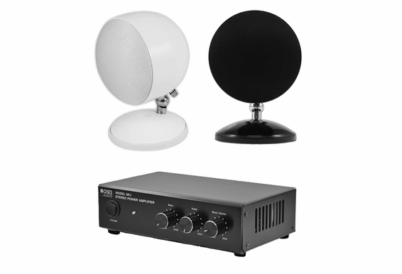 Sphere Speaker Bundle w/ Stereo 2-Channel Amplifier AMP60