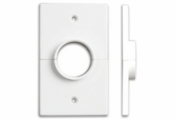 "Split Single Gang Wall Plate With 1-3/8"" Hole, White (1, 5, 10, 15, or 20 Pack)"