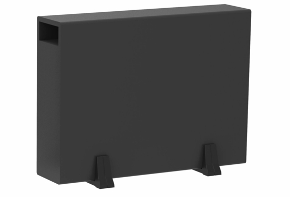"SS8 200W Ultra Thin Low Profile 8"" Active Subwoofer Black Wood Veneer, Single Drive"