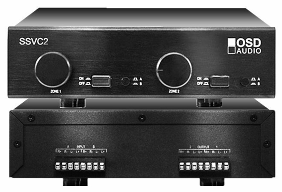 SSVC2 2 Pair Speaker Selector Dual Source 300W Volume Control