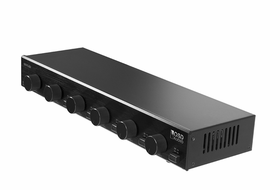SSVC6 6x Pair Speaker Selector With Volume Controller, Dual Input Source, Impedance-Matching Protection