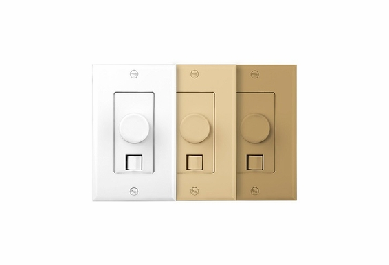 SVC405 300W Decora Style Volume Control Kit with Impedance Matching, A/B Switching and White, Ivory and Almond Colored Trim Plates