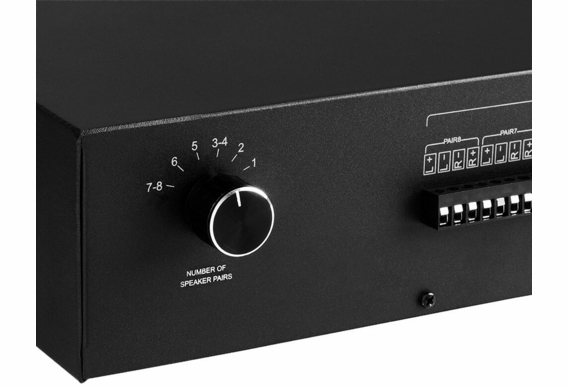 TSM8 Dual Source 8-Zone Speaker Selector with Amplifier Protection Circuitry and Removeable Input/Output Connectors
