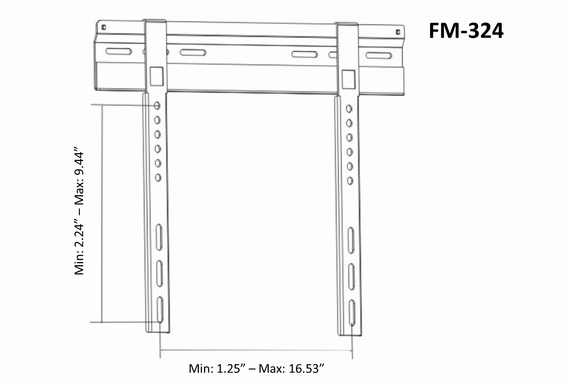 """TV Wall Mount for Plasma/LCD Fixed Flat Mount 23""""- 42"""" OSD FM-324"""