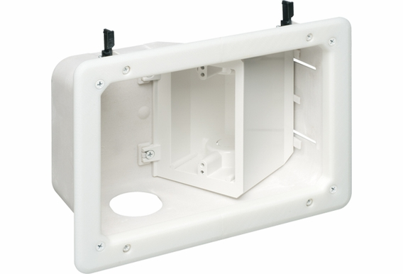 TVB712 Recessed TV Box™ w/ Angled Openings for Flat Screen TVs