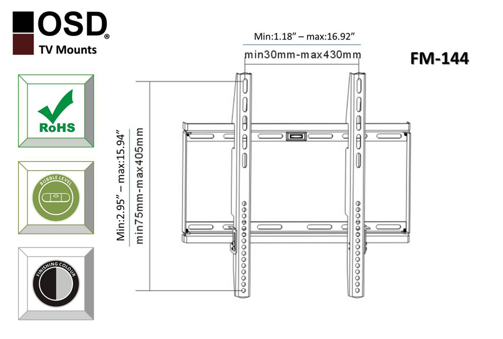 wall mount for plasma  led  lcd tvs fixed mount 32 u0026 39