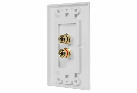 WP-2 Terminal Speaker Decora Binding Post Wall Plate