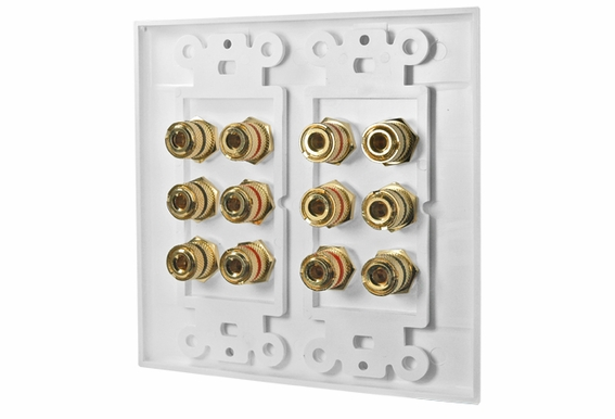 WP12 Terminal Decora Wall Plate or 5.1 Home Theater Systems