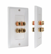 WP4 Terminal Decora Speaker Binding Wall Plate