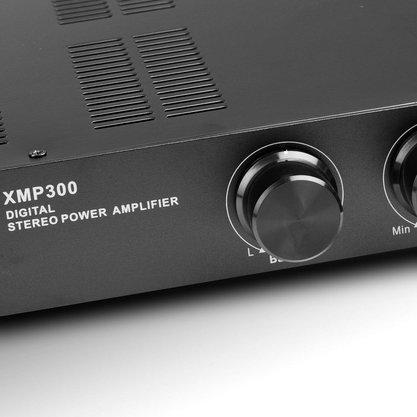 xmp300 2 channel 150w each channel class d stereo power amplifier priority input and a b. Black Bedroom Furniture Sets. Home Design Ideas