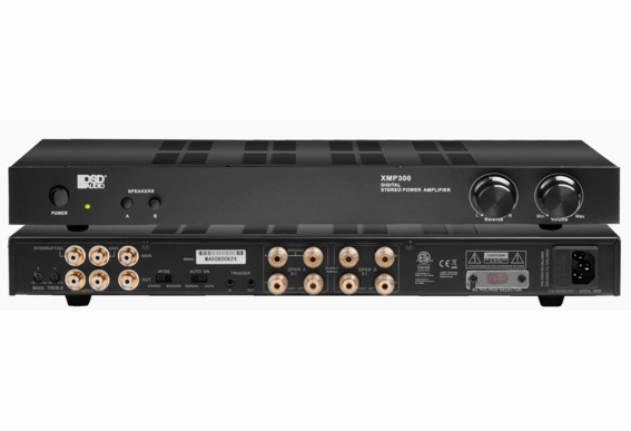 XMP300 2-Channel 150W Each Channel, Class D Stereo Power Amplifier, Priority Input and A/B Switching 4 -8Ω ETL and CE Certified