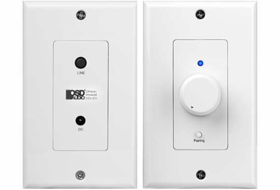 XWB50 In-Wall 50W Amplifier with Bluetooth® / Aux Input Rotary Knob Decora-Style Plates, Includes Connecting Cables
