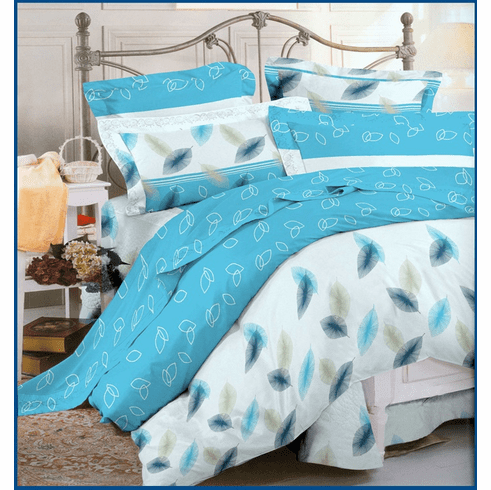 3pc 100% Cotton Duvet Cover Set Blue