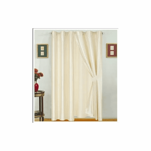 A Pair of Modern Style Beige Color window curtain / drapes set
