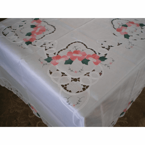 Batten lace with embroidery table clothes / covers  72x126 inch oblong