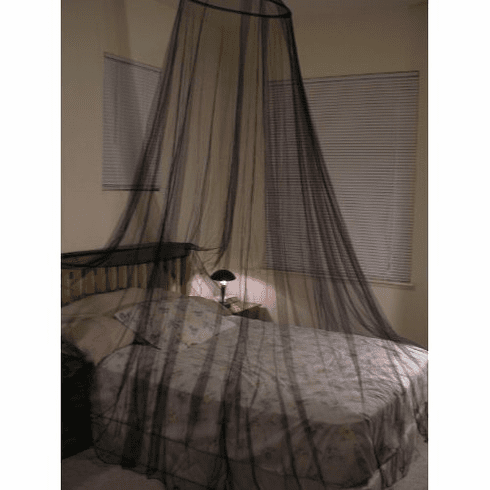Black Bed Canopy Mosquito net for Crib, twin, full, Queen or King Size bed and outdoor Easy set and Carry