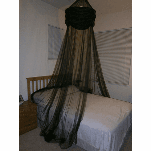 Black Hoop Valance Bed Canopy Mosquito Net fit all size bed outdoor party and camping