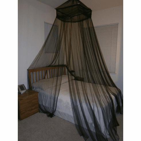 Black Octorose ® Square Top Bed Canopy Mosquito Insect Net Fit All Size Bed From Crib, Twin, Queen, King and Cal King