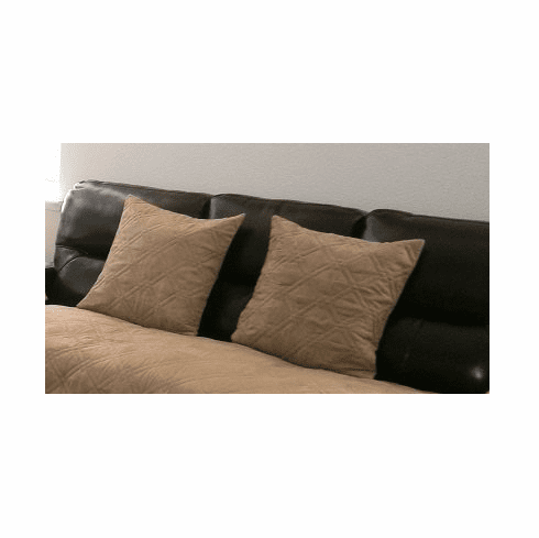 Bonded Micro Suede Quilted Cushion Cases Set of Two 20x20 inch