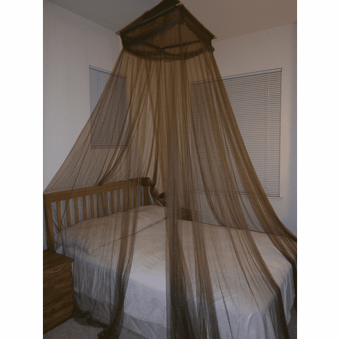 Brown Octorose ® Square Top Bed Canopy Mosquito Insect Net Fit All Size Bed From Crib, Twin, Queen, King and Cal King