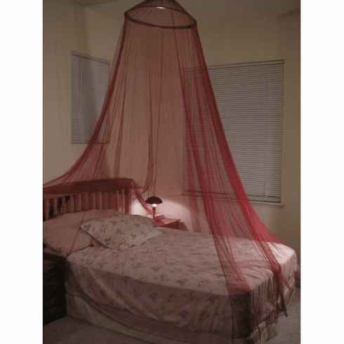 Burgundy Bed Canopy Mosquito net for Crib, twin, full, Queen or King Size bed and outdoor Easy set and Carry
