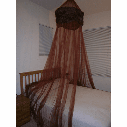 Burgundy Hoop Valance Bed Canopy Mosquito Net fit all size bed outdoor party and camping