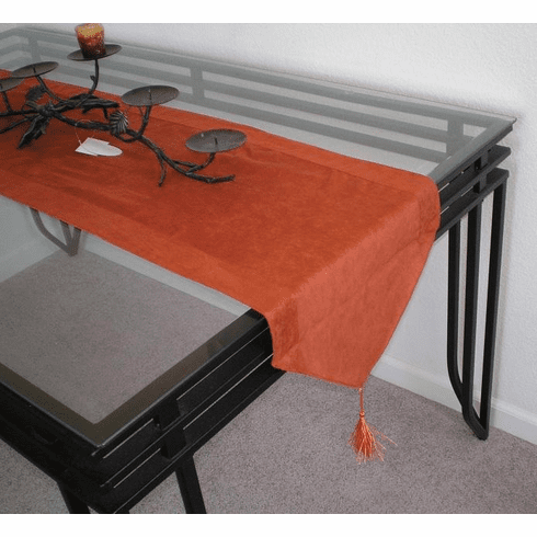 Double Layer Bonded Micro Suede Table Runner Brick ( or Rust )