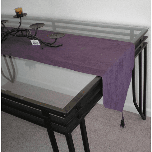 Double Layer Bonded Micro Suede Table Runner Purple (or Plum)