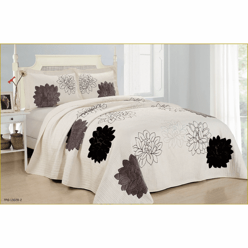 High Quality fully quilted bedspread coverlet Bed Cover set Queen King