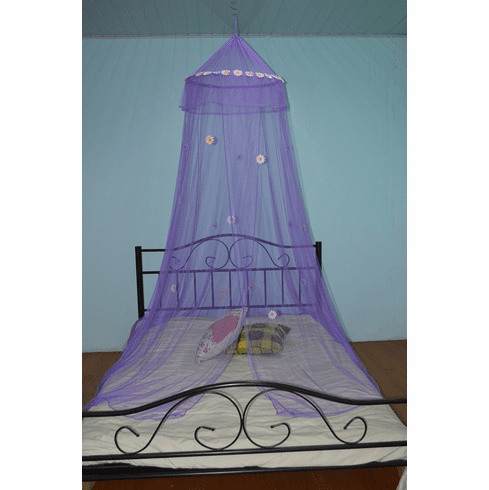 Hoop Canopy Mosquito Net Pink with Daisies can fit Crib to Twin size bed