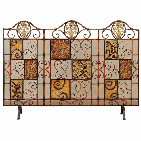 Metal Fire Place Screen 44 inches wide 32 inches high