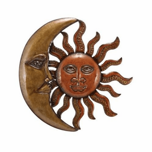 "metal sun moon wall decor' 20""D"