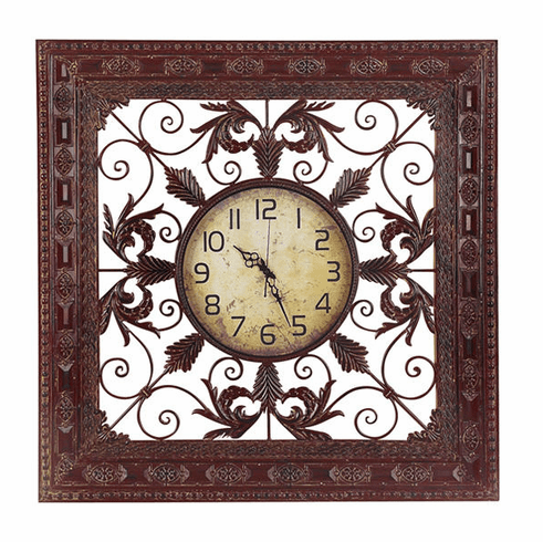 Metal Wall Clock 39 inches Square