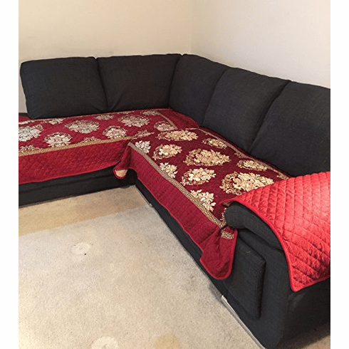 OctoRose 35x35 Chenille Quilted Sectional Deep Seats Sofa Slipcover Pad Furniture Protector Sold by Piece Rather Than Set