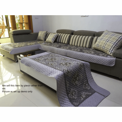 OctoRose 35x94 inch Chenille Quilted Sectional Sofa Throw Pads Furniture Protector Sold by Piece Rather Than Set