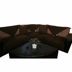 "OctoRose 35x94"" Waterproof Micro Suede Customised New and Improved Anti-Slip Grip Sofa and Couch Protector, Sectional Sofa Cover, Removable and Adjustable Strap Under The Sofa Cushion"