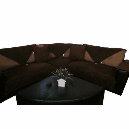 """OctoRose 35x94"""" Waterproof Micro Suede Customised New and Improved Anti-Slip Grip Sofa and Couch Protector, Sectional Sofa Cover, Removable and Adjustable Strap Under The Sofa Cushion"""
