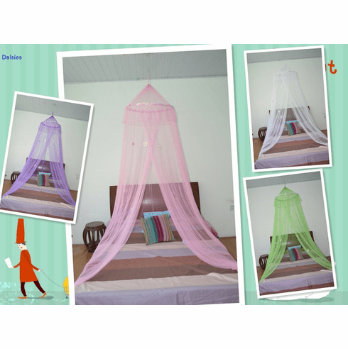 Octorose ® Daisies Bed Canopy Mosquito Net for All Size Bed Dressing Room, Party Events