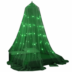 "OctoRose Glow in The Dark Bed Canopy Mosquito Net| Fits Crib,Twin, Full, Queen, King and Calking. 23"" Diameter on top, 98"" high, 472"" Around The Bottom"