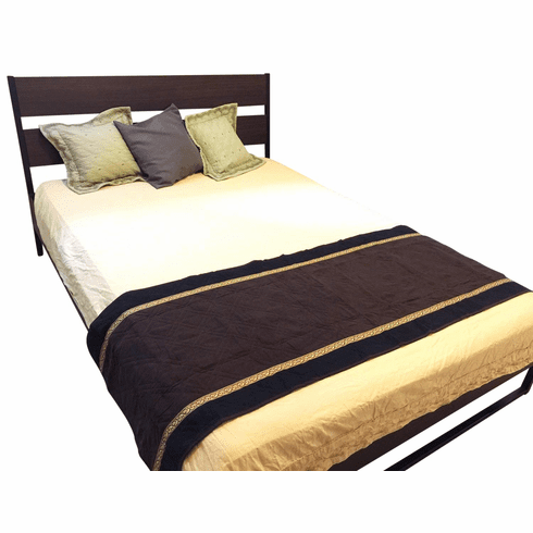 OctoRose Quilted Micro Suede Bed Runner Scarf Protector Slipcover Pad for Pets V2 (26x96 inch)